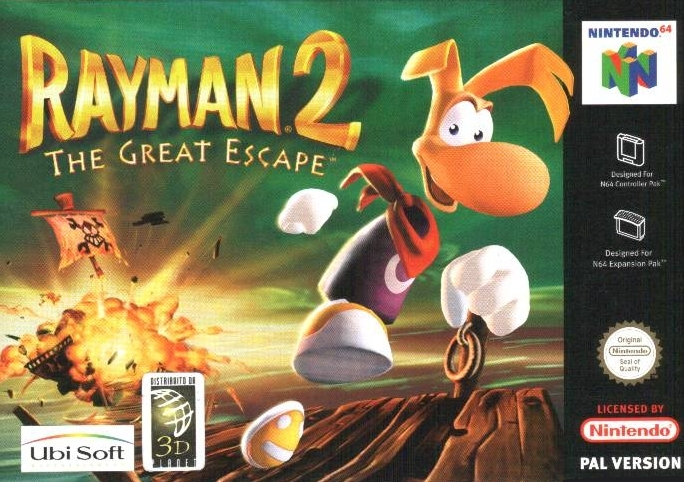 Boxshot Rayman 2: The Great Escape