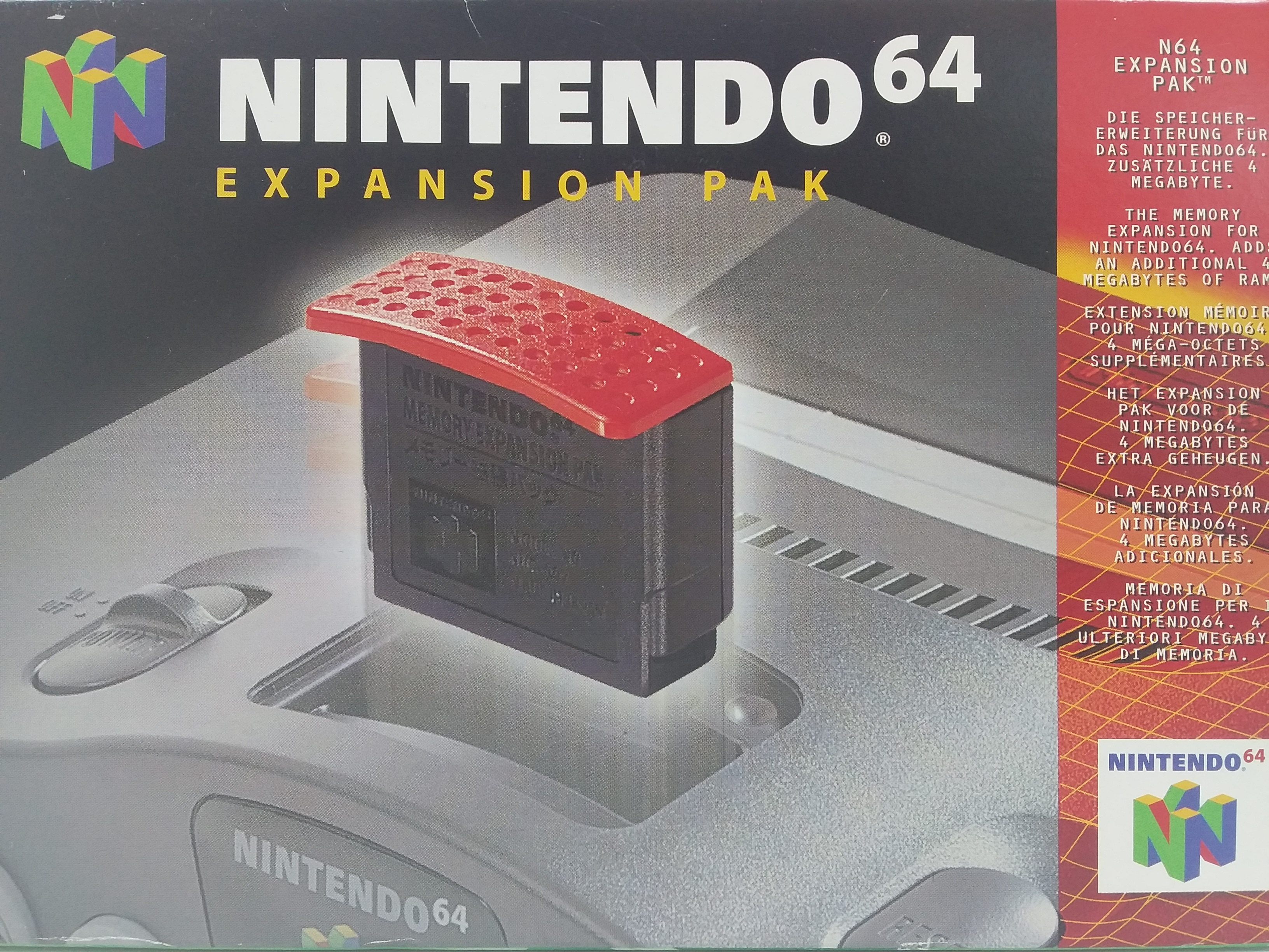 Foto van Nintendo 64 Expansion Pak in Doos