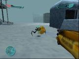 Speel in verschillende omgevingen, zoals deze besneeuwde top.
