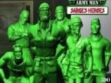 Een peloton groene plastic legerpoppetjes speelt de hoofdrol in deze game!