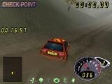 Deze game werkt met checkpoints, omdat je je auto ook in de prak kan rijden...