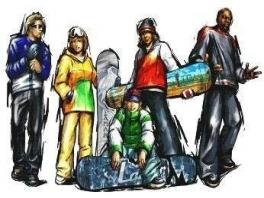 Dit zijn de speelbare snowboarders in de game.
