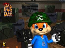 Speel als Conker, de aggressieve, alcoholistische eekhoorn!