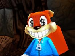 Oh ja, Conker is ook nogal bezeten van geld...