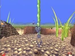 Speel als Flip, de mier die op zoek is naar een leven buiten de kolonie.