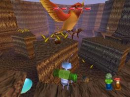 Dat is ofwel een heel kleine vogel, ofwel een gigantische muur.