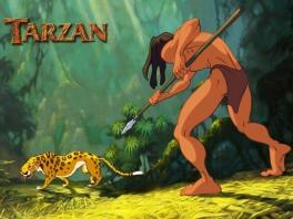 Speel als de jonge en de volwassen Tarzan!