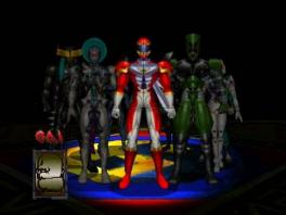 Speel als één van deze Power Ranger-achtige karakters.