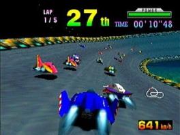 Deze racer is ietsje sneller dan de gemiddelde Mario Kart, dus reactiesnelheid is cruciaal!
