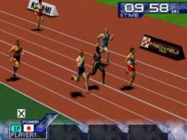 Ren zo snel als je kan naar de finish met de 100 meter sprint!