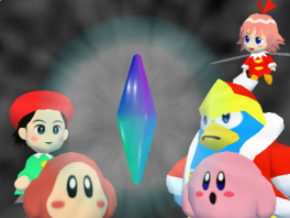 Vind met Kirby, Waddle Dee, Adeleine, King Dedede en Ribbon de Crystal Shards terug!