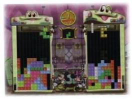Ontrafel verschillende verhaallijnen van personages in Magical Tetris Challenge.