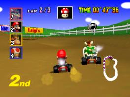 Leuk feitje: alle karakters in Mario Kart 64 zijn eigenlijk 2D-sprites in een 3D-wereld!