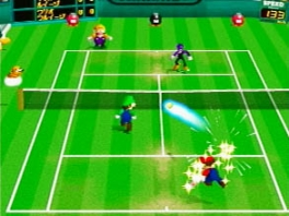 Spannende duels en matches voor 4 spelers in Mario Tennis!