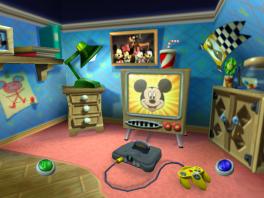 Zoals je in het menu kan zien, is Mickey ook niet vies van een <a href = https://www.mario64.nl/Nintendo-64-spel.php?t=Nintendo_64 target = _blank>N64</a>-spelletje op zijn tijd.
