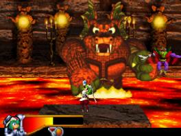De eindbaasgevechten spelen zich niet af in 2D, maar in 3D.
