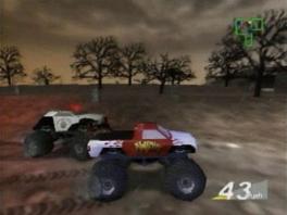 Dit is een redelijk standaard racegame, maar dan met monstertrucks!