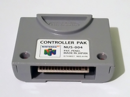 Enkele spellen bieden je de mogelijkheid gegevens op het <a href = https://www.mario64.nl/Nintendo-64-spel.php?t=Nintendo_64_Controller_Pak target = _blank>Controller Pak</a> op te slaan.