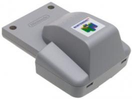 Deze <a href = https://www.mario64.nl/Nintendo-64-spel.php?t=Nintendo_64_Rumble_Pak target = _blank>Rumble Pak</a> laat de controller trillen op bepaalde momenten.