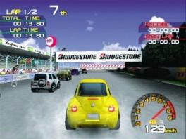 Er zijn verschillende banen waarop je kan racen!