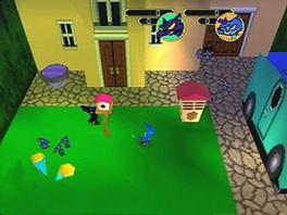 De game speelt zich af in verschillende van dit soort vierkante ruimtes.