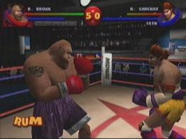 Deze game lijkt meer op een klassieke fighter dan op een echte boksgame.