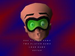 Het menu van deze game doet wel heel erg denken aan Super Mario 64...