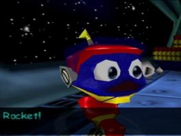 Speel als Robot, de raket op... eh, Rocket, de robot op wielen!