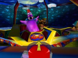 Net als Diddy Kong Racing lijdt deze game aan het doodenge-beesten-met-oosterse-hoedjes-syndroom.