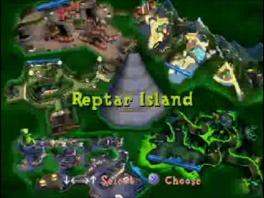 Speel op allerlei bekende Parijse locaties, zoals... Reptar Island?