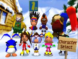 Dit zijn alle speelbare Snowboard Kids in de game.