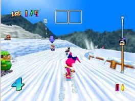 Deze game is een soort combinatie van Mario Kart en een Shaun White-game.
