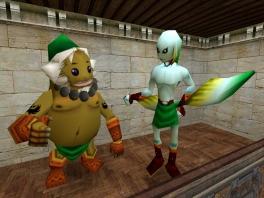 In deze game kan Link in een Deku Scrub, een Zora en een Goron veranderen!