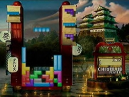 Deze Tetrissteentjes is het enige wat je in dit spel bestuurt, karakters zijn er niet.
