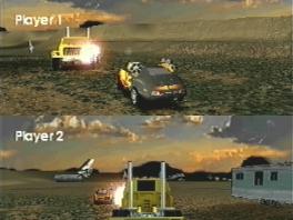 De Vigilante 8-games zijn niet zozeer racegames, maar meer vechtgames met auto's.