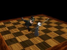 Als er een stuk geslagen wordt, zie je een grappige cutscene waarin de stukken er zo uitzien!