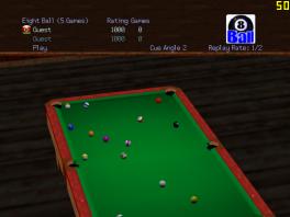 Deze game heeft geen echte characters, alleen een keu en een hoop ballen!