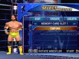 Kies uit verschillende bekende worstelaars, of creëer je eigen!