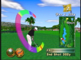 Speel golf op de originele baan van de <a href = https://www.mario64.nl/Nintendo-64-spel.php?t=Waialae_Country_Club_True_Golf_Classics>Waialae Country club</a>, met maarliefst 18 holes!
