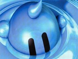 Het hoofdkarakter is ... een blauwe bubbel!