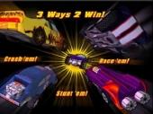 De drie pijlers van Hot Wheels: stunten, beuken en racen.