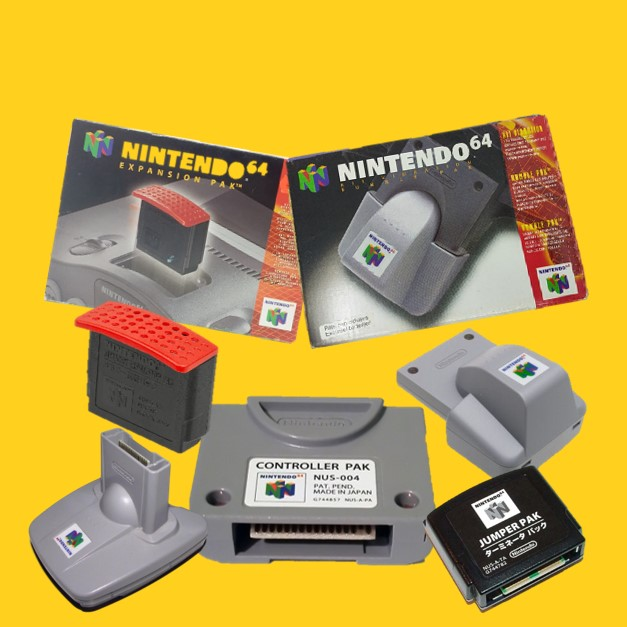 Expansion, rumble, controller, transfer en jumper pak voor de N64
