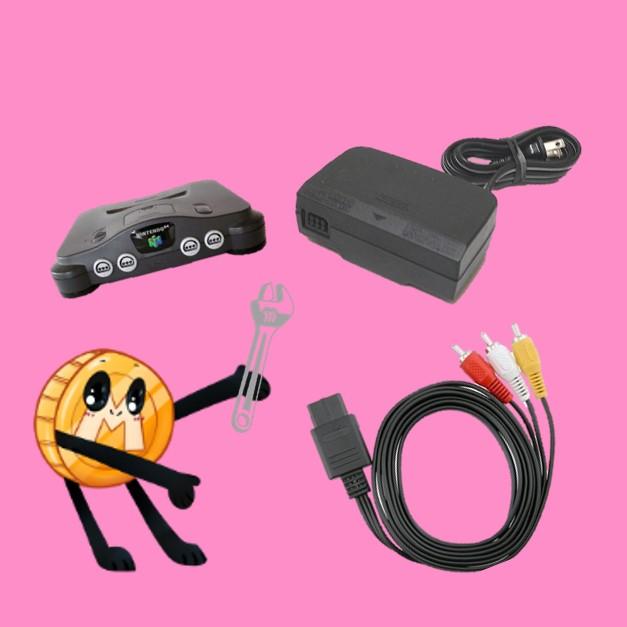 losse kabels en consoles voor de nintendo 64