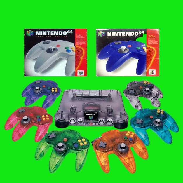 Controllers in alle kleuren van de Nintendo 64