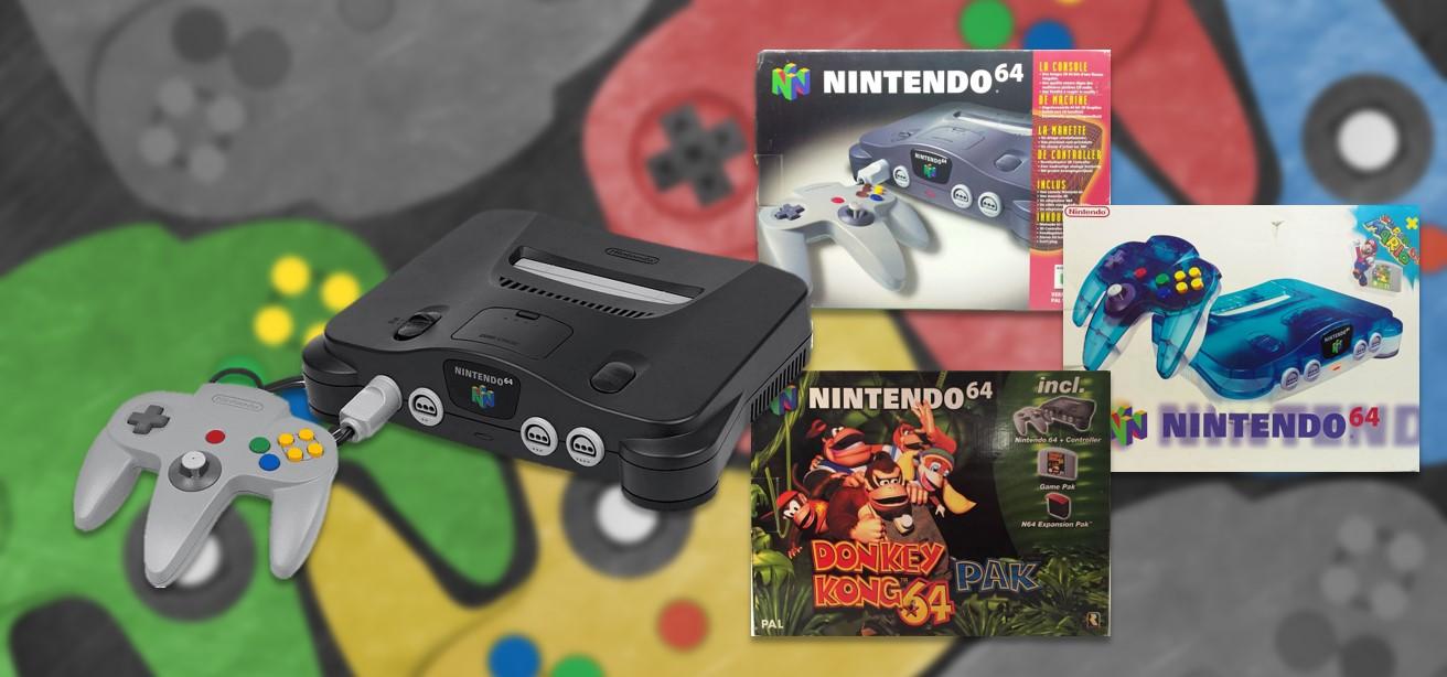 N64 spelcomputers in doos